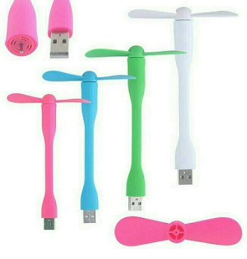 Kipas Angin USB Fleksibel (warna)