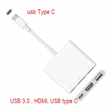 Kabel USB Type C to HDMI, USB 3.0