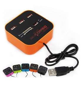USB Hub 3 port + Card Reader
