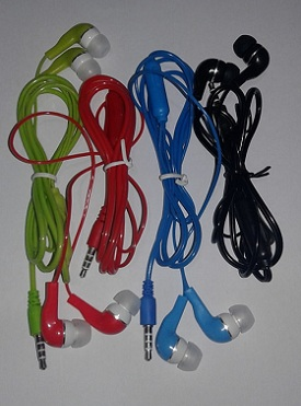 Headset earphone Warna + telp (toples)