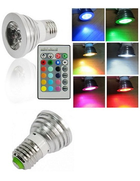 Lampu Led Sorot Warna RGB + Remote