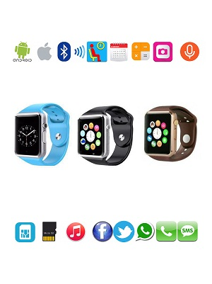 Smart Watch Jam Tangan (telpon + camera + Music + Sosmed) A1 U10/GT08