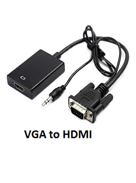 Converter Kabel VGA ke HDMI Female + Audio