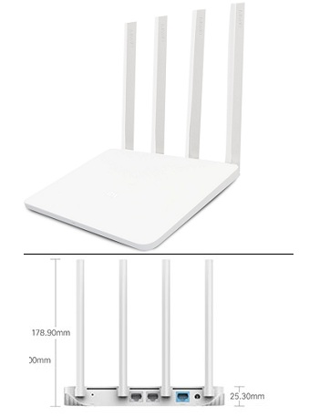 Wireless Router Xiaomi Wifi 300mbps 4 Antena