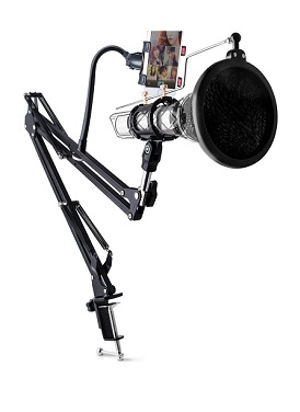 Condenser Microphone + Holder HP 360 derajat