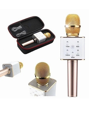 Mic KTV Karaoke Bluetooth Microphone Wireless Speaker Portable Q7