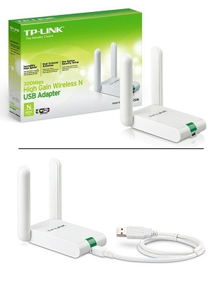 USB Wireless Adapter 2 Antena TP-Link WN822N – V5