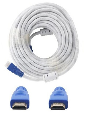 Kabel HDMI 10M HQ White