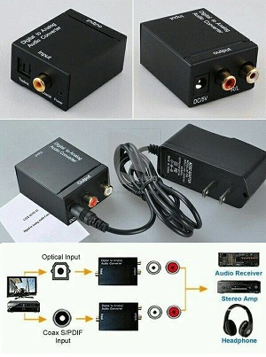 Converter Optik Digital to (RCA) Analog Audio