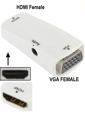 Converter HDMI female to VGA Female