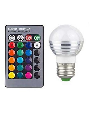 Bohlam Lampu Led RGB 16 WARNA 5W + Remote (SPOT LIGHT)