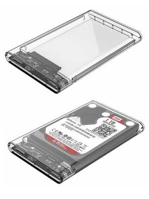 Casing Enclosure HDD USB 3.0 2.5 inch Transparan