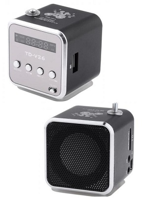 Speaker Mini Portabel FM Radio, TF Card , Usb