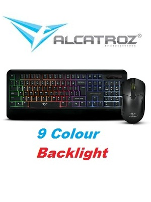 Keyboard Mouse Backlight 9 Colours Cable Xplorer Alcatroz 7770