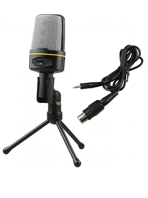 Mic Microphone + Stand Jack 3.5mm