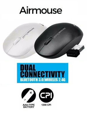 Mouse Wireless + Bluetooth Alcatroz Duo2