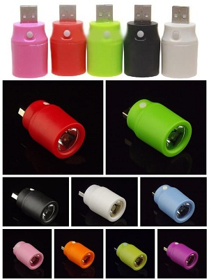 USB Led kepala Senter Powerbank (on off)
