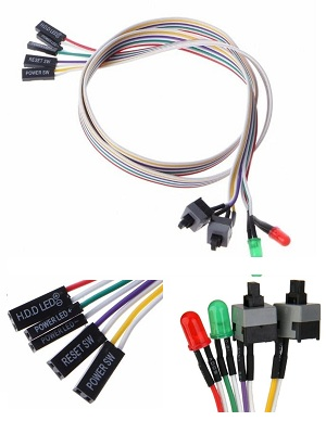 Kabel Front Panel/Power, Reset Switch LED CPU