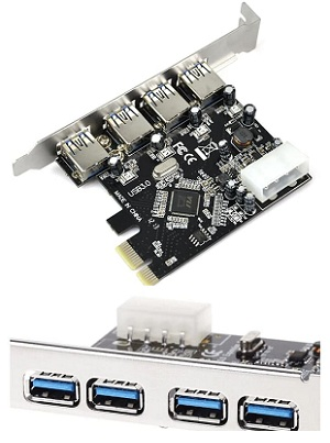 PCI Express Card to USB 3.0 4 Port