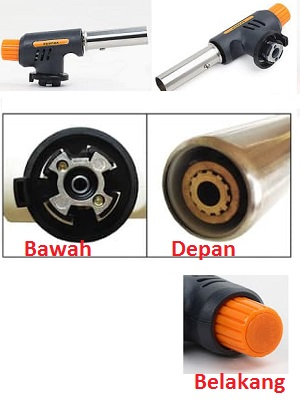 Handy Torch Portable Blow Las Pendek Bara Api Super Jet