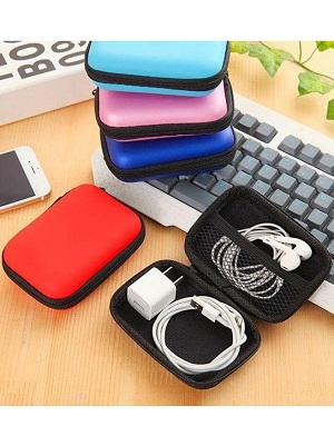 Pouch Dompet Tas Softcase Charger Kabel Headset Hp