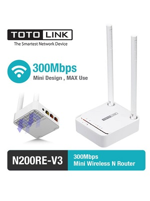 Totolink N200RE  Wireless Router 2 Antena 300Mbps