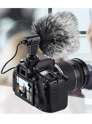Mic Microphone Camera DSLR Double Filter + Bulu