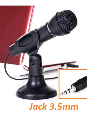 Microphone + Stand Mic Jack 3.5mm