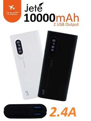 Power Bank Jete 10000mah 2.4A real
