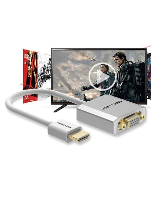 Kabel HDMI to VGA Vention + Aux