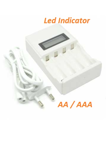 Charger Baterai AA AAA Led Indicator