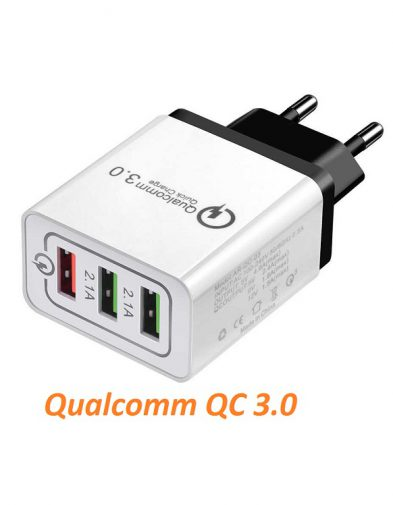 Charger Qualcomm QC 3.0 USB 3 Port