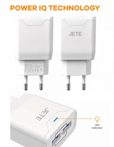 Charger HP JETE 2.4A 2 Port USB+ Kabel Micro