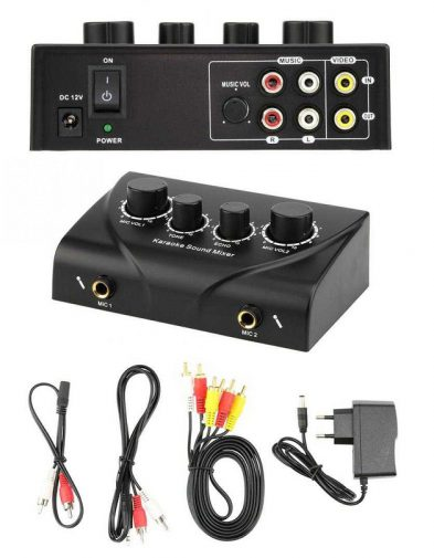 Mixer Microphone 2 Channel Input