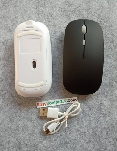 Mouse Bluetooth Baterai Cas Isi Ulang Slim