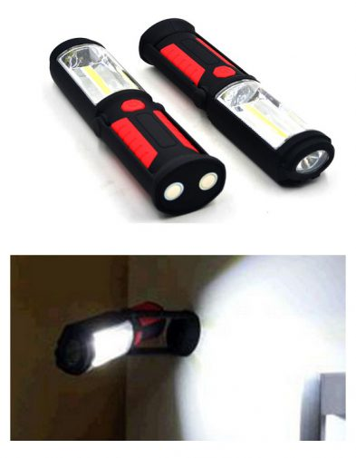 Lampu Led Cob Portable Gantung, Meja + Senter