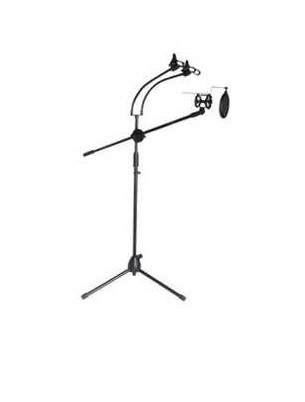 Tripod Stand Microphone + Holder Hp Lazypod 2 , Pop Filter