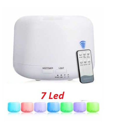 Humidifier Diffuser 7 Led Warna + Remote