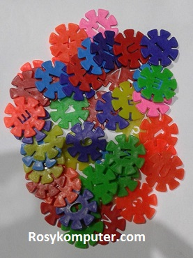 Mainan Anak Bombik Tazoz Abjad + Angka 75biji