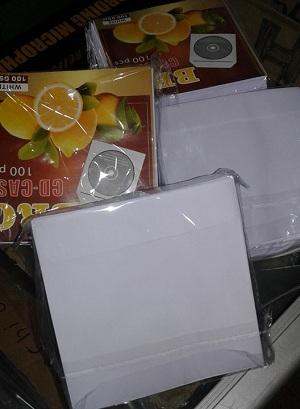 Amplop Tempat Case DVD CD Kertas 1 Pak (100 Biji)