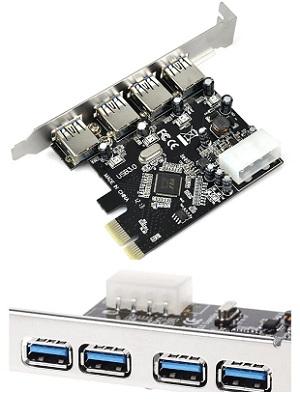 PCI Express Card to USB 3.0 4 Port