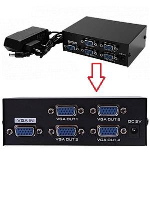 Splitter VGA Video 4 Port ( 1 Input – 4 Output) + Power Adaptor