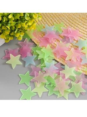 Stiker Bintang Glow in the Dark (Gelap Nyala) 100 biji