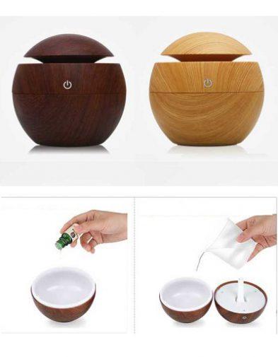 Air Humidifier Aroma Terapi Essential Oil Motif desain Kayu