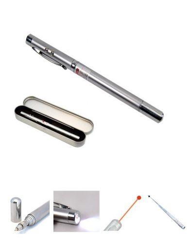 Pulpen 5 Multifungsi (Laser Pointer, Led)