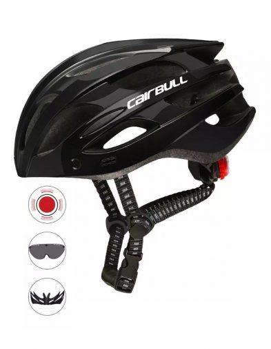 Helm Sepeda Cairbull, Kaca Magnet + Lampu