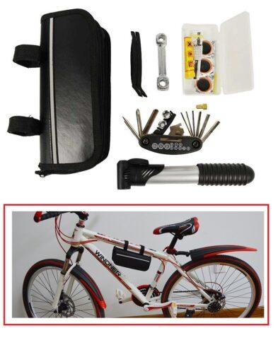 Paket Perlengkapan Reparasi Sepeda Tambal, Pompa, Obeng