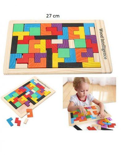 Puzzle Kayu , Mainan Anak Game Tetris
